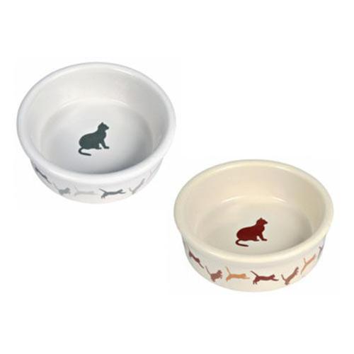 Миска керамическая для кошек с кошкой