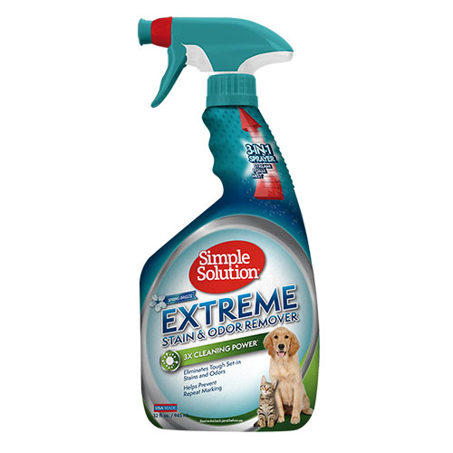 SIMPLE SOLUTION- Сверхмощное средство с ароматом весенней свежести для нейтрализации запахов и удаления пятен мочи животных