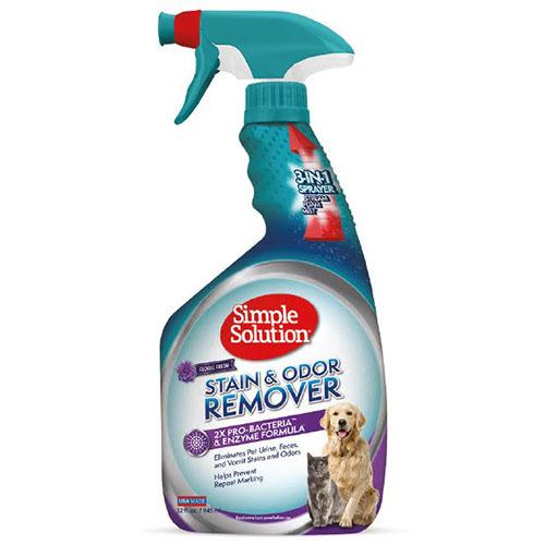 SIMPLE SOLUTION- Универсальное средство с цветочным ароматом для нейтрализации запахов и видаления пятен от жизнедеятельности животных