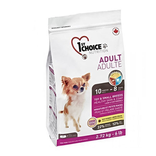 1st Choice Adult Toy and Small breed - Фест Чойс Корм для дорослих собак міні і малих порід з ягням і рибою