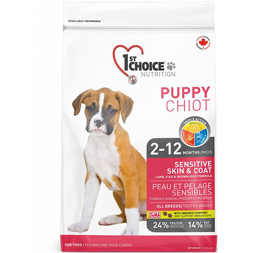 1st Choice Puppy All Breeds Sensitive skin & coat - Фест Чойс Корм для щенков всех пород с ягненком и рыбой