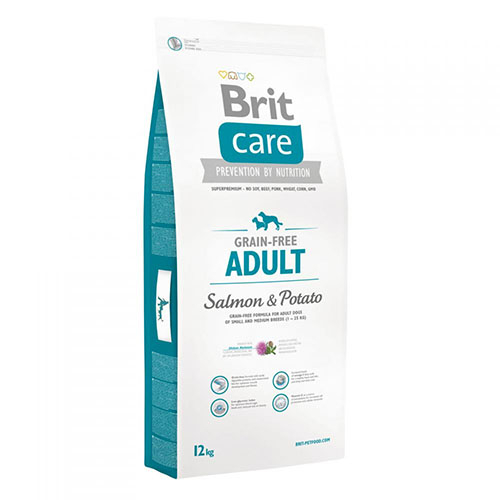 Brit Care Adult Salmon & Potato - Беззерновой корм для собак маленьких и средних пород с лососем и картофелем