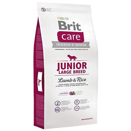 Brit Care Junior Large Breed Lamb & Rice - Корм для щенков крупных пород с ягненком и рисом