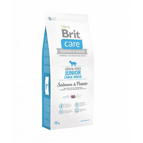 Brit Care Junior Large Breed Salmon and Potato - Корм для молодых собак крупных пород с лососем и картофелем