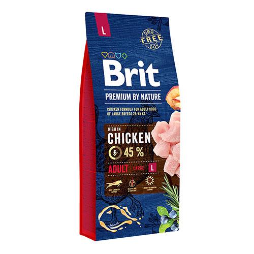 Brit Premium Adult Large Chicken - Сухой корм для собак крупных пород с курицей