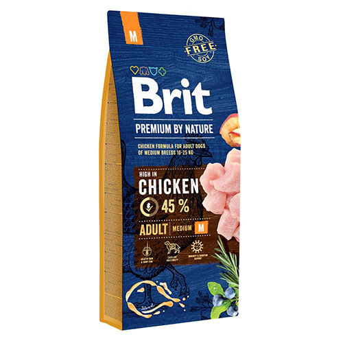 Brit Premium Adult Medium Chicken - Сухой корм для собак средних пород с курицей