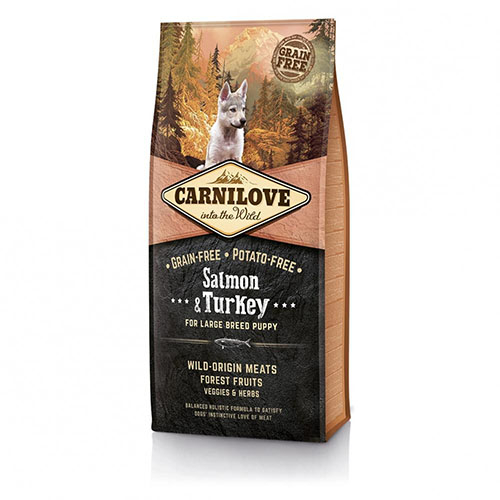 Carnilove Salmon & Turkey for Adult Large Breed - Сухой корм для собак крупных пород с лососем и индейкой