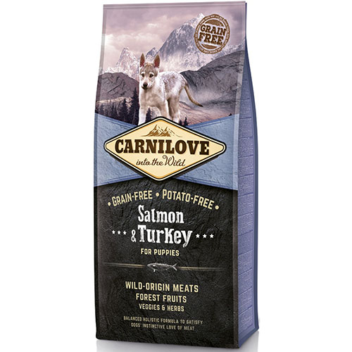 Carnilove Salmon & Turkey for Puppy Сухой корм для щенков с лососем и индейкой