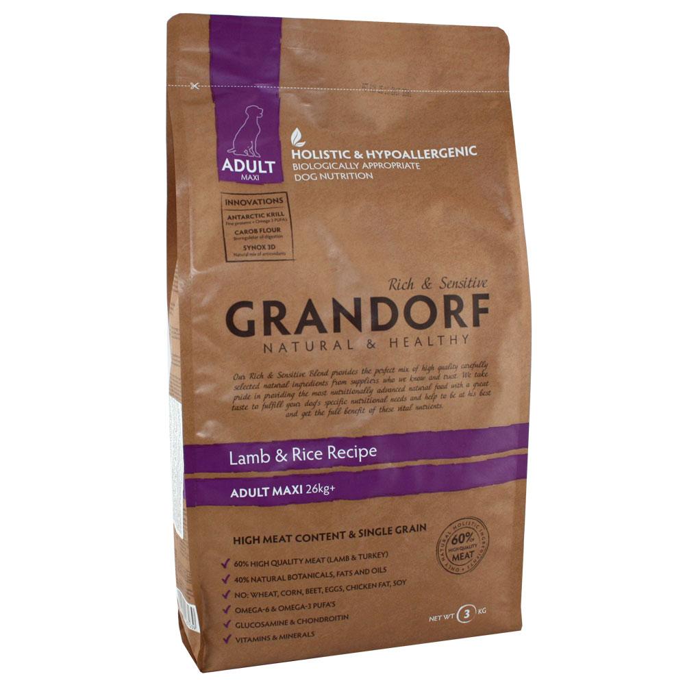 Grandorf Lamb & Rice Adult Maxi 26+ Сухой корм для взрослых собак крупных пород с ягненком и рисом