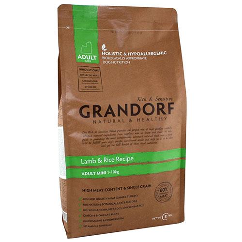Grandorf Lamb & Rice Adult Mini Сухой корм для взрослых собак малых пород с ягненком и рисом