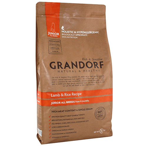 Grandorf Lamb & Rice Junior All Breed Сухой корм для юниоров всех пород, беременных и кормящих собак средних и больших пород