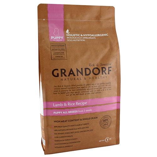 Grandorf Lamb & Rice Puppy All Breed Сухой корм для щенков всех пород, беременных и кормящих собак