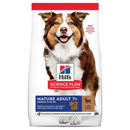 Hills Хилс Canine Mature Adult 7+ Lamb & Rice Корм для собак средних пород старше 7 лет
