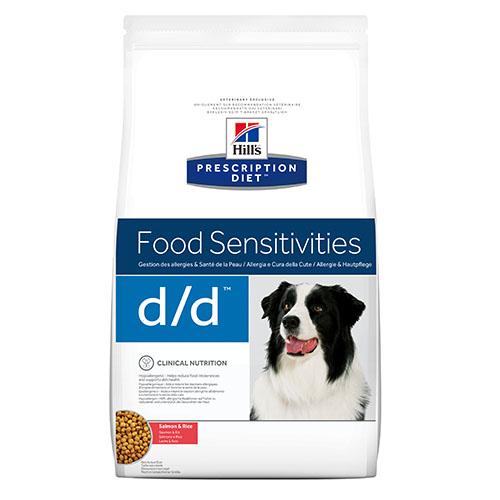Hills Prescription Diet d/d Лечебный корм для собак с лососем и рисом при пищевой чувствительности и заболеваниях кожи