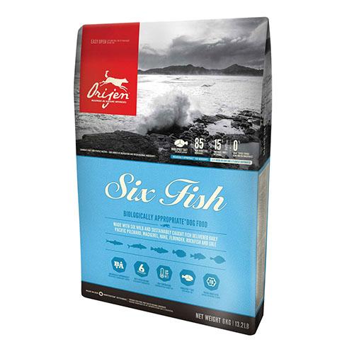 Orijen Adult 6 Fish - Гипоаллергенный корм для взрослых собак, 6 видов рыбы