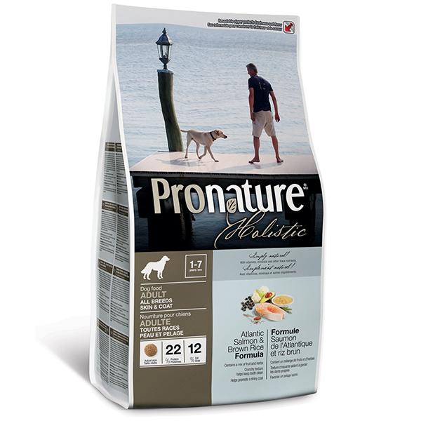 Pronature Holistic Adult Atlantic Salmon & Brown Rice - Пронатюр холистик с атлантическим лососем и коричневым рисом для собак всех пород