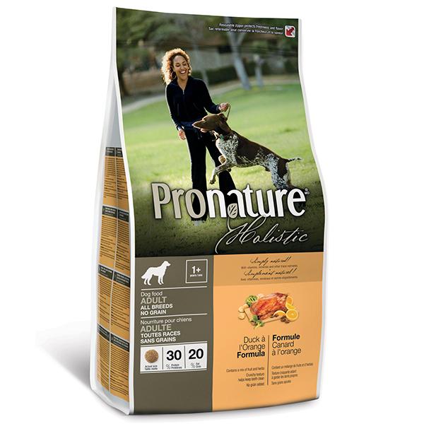Pronature Holistic Adult Duck & Orange - Пронатюр холистик с уткой и апельсинами без злаков для собак