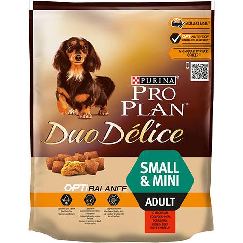 Purina Pro Plan Duo Delice (Дуо Деліс) - Сухой корм для собак малых пород с говядиной