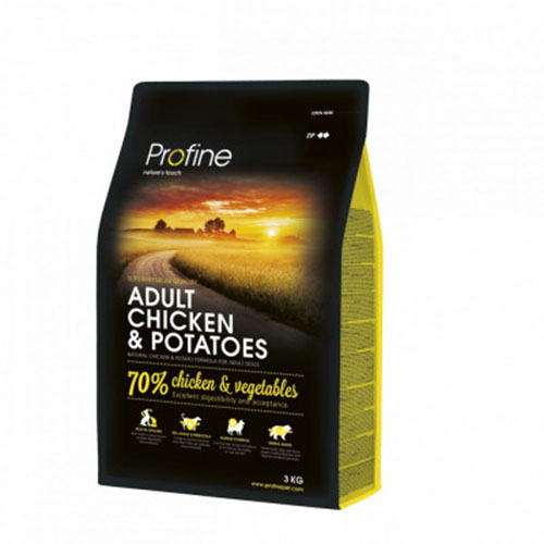 Profine Adult Chicken & Potatoes - Сухой корм для собак с курицей и картофелем