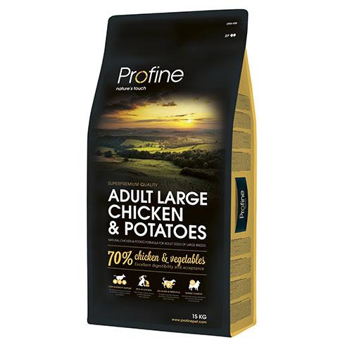 Profine Adult Large Chicken & Potatoes - Сухой корм для собак крупных пород с курицей и картофелем