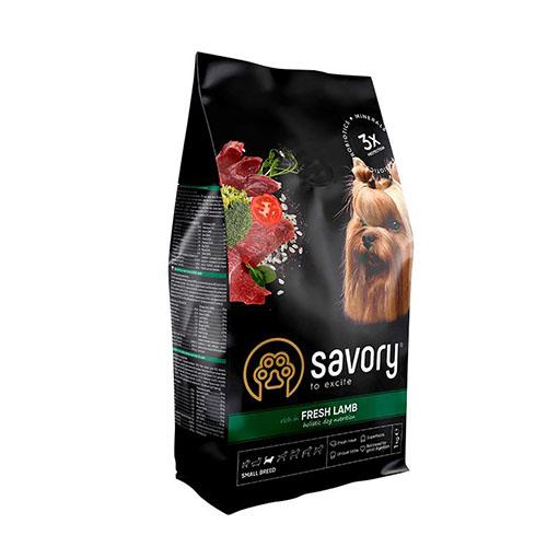 Сухой корм Savory для собак малых пород со свежим мясом ягненка