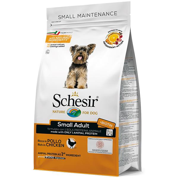 Schesir Dog Small Adult Chicken - Шезир курица сухой монопротеиновый корм для собак малых пород