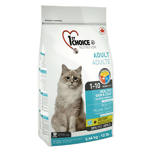 1st Choice Adult Healthy Skin & Coat - Фест Чойс корм для взрослых кошек с лососем. Красивая кожа и шерсть