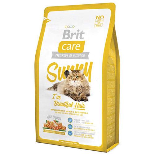 Brit Care Cat SUNNY Beautiful Hair - Сухой корм для кошек шерсть которых требует дополнительного ухода, здоровья кожи и шерсти