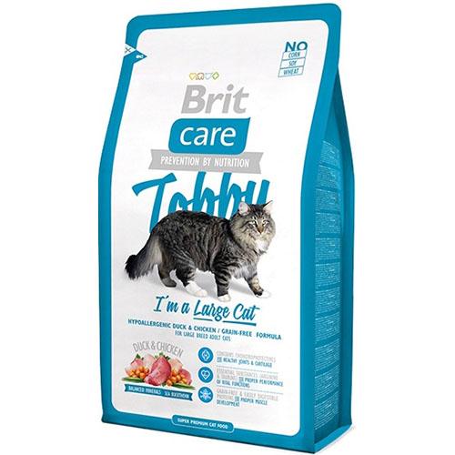 Brit Care Cat Tobby I am a Large Cat - Сухой корм для кошек крупных пород с уткой и курицей