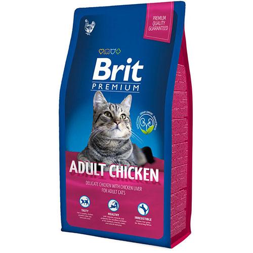 Brit Premium Cat Adult Chicken - Сухой корм для взрослых котов и кошек с курицей