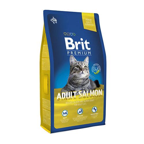 Brit Premium Cat Adult Salmon - Сухой корм для взрослых кошек с лососем