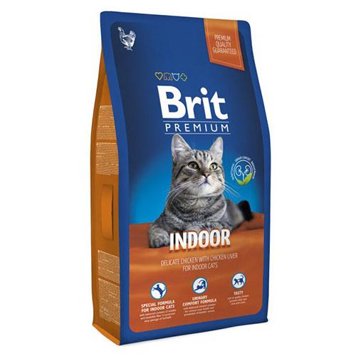 Brit Premium Cat Indoor - Сухой корм для кошек не покидающих помещение