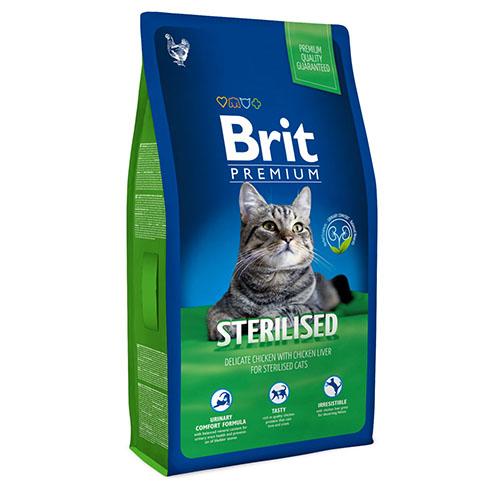Brit Premium Sterilised - Сухой корм для стерилизованных кошек и котов с курицей