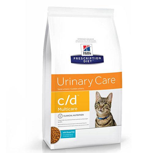 Hills Prescription Diet Urinary Care c/d Multicare Ocean Fish Хиллс Лечебный корм для котов и кошек при мочекаменной болезни, с океанической рыбой