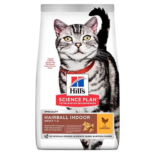 Hills Adult Hairball Control Хиллс Корм предупреждающий образование комков шерсти в желудке кошки, с курицей