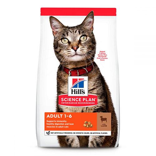 Hill Science Plan Feline Optimal Care Lamb Хиллс Сухой корм кошек 1-6 лет, с ягненком