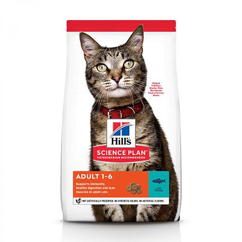 Hills Science Plan Feline Adult Optimal Care Tuna Хиллс Сухой корм для взрослых кошек, с тунцом