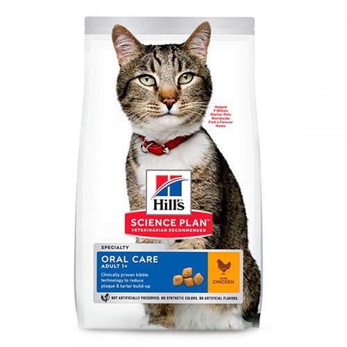 Hills Adult Oral Care Хиллс Корм для взрослых кошек с курицей - Уход за полостью рта
