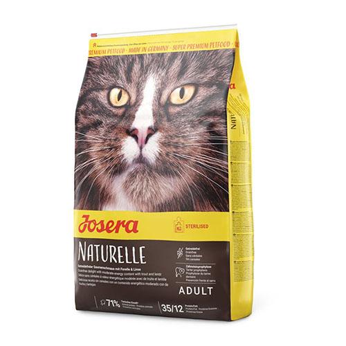 Josera Naturelle Sterilised - Йозера Натурель беззерновой корм для стерилизованных кошек  с чечевицей и форелью