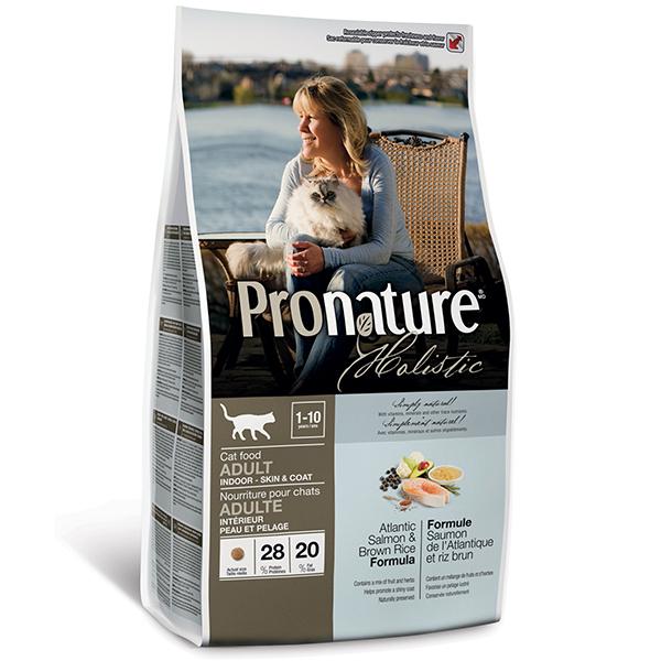 Pronature Holistic Adult Atlantic Salmon&Brown Rice - Пронатюр холистик с атлантическим лососем и коричневым рисом для котов всех пород