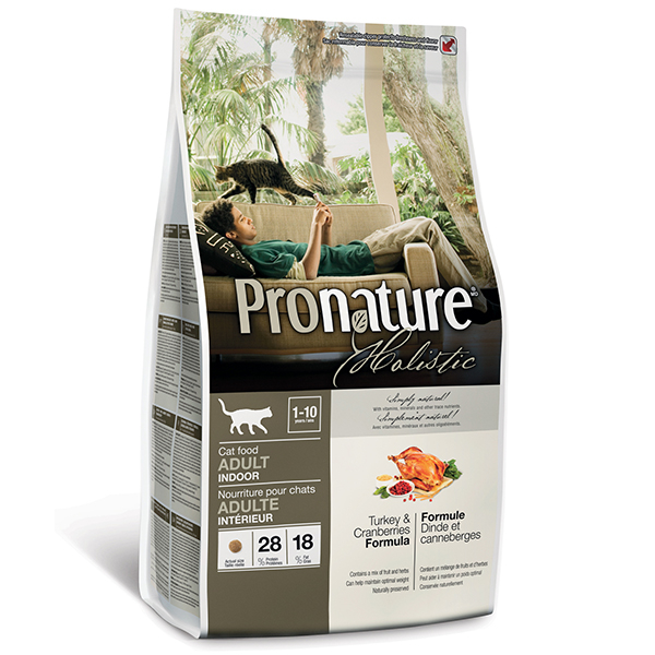 Pronature Holistic Adult Turkey&Cranberries - Пронатюр холистик с индейкой и клюквой  для котов всех пород