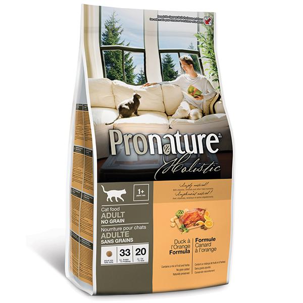 Pronature Holistic - Пронатюр холистик с уткой и апельсинами без злаков для котов