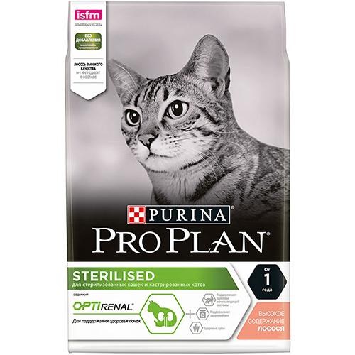Pro Plan Sterilised - Сухой корм для стерилизованных кошек и кастрированных котов с лососем