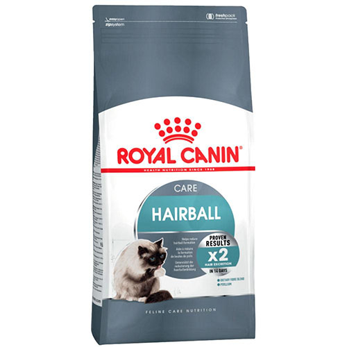 Royal Canin Hairball Care - корм Роял Канин для кошек с длинной и полудлинной шерстью