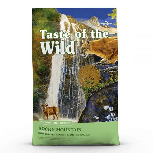 Taste of the Wild Rocky Mountains -  Вкус Дикой Природы беззерновой с жареной олениной и копченым лососем для котят и взрослых кошек