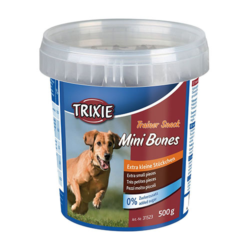 Trixie Trainer Snack Mini Bones Лакомства для собак с говядиной, ягненком и курицей 500гр
