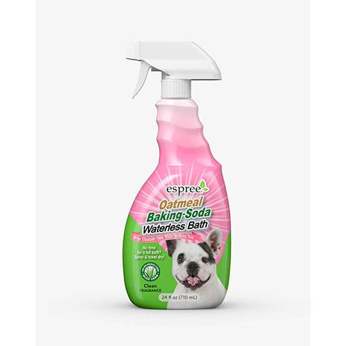ESPREE (Эспри) Oatmeal Baking Soda Waterless Bath - Спрей с протеинами овса и пищевой содой для экспресс очистки кожи и шерсти собак