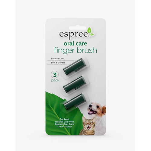 ESPREE (Эспри) Oral Care Fingerbrush - Набор из 3 щеток для ухода за зубами и полостью рта кошек и собак