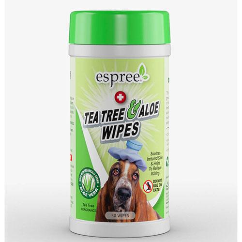 ESPREE (Эспри) Tea Tree & Aloe Wipes - Влажные салфетки с маслом чайного дерева и алоэ вера