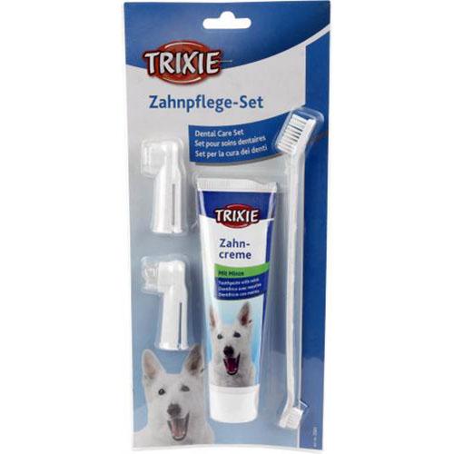 Trixie Зубная паста с щеткой для собак